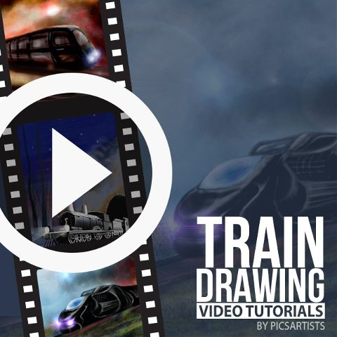 train drawing time lapse video