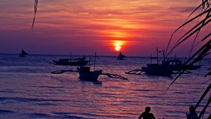 boracay beach sun sunset philippines