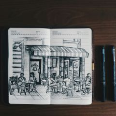 photography sketch coffee people doodling