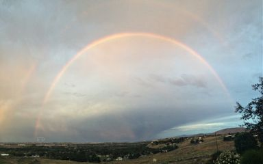 interesting sky rainbow panorama photography