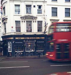 london uk travel bus pub