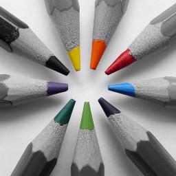 pencils draw colors colorsplash