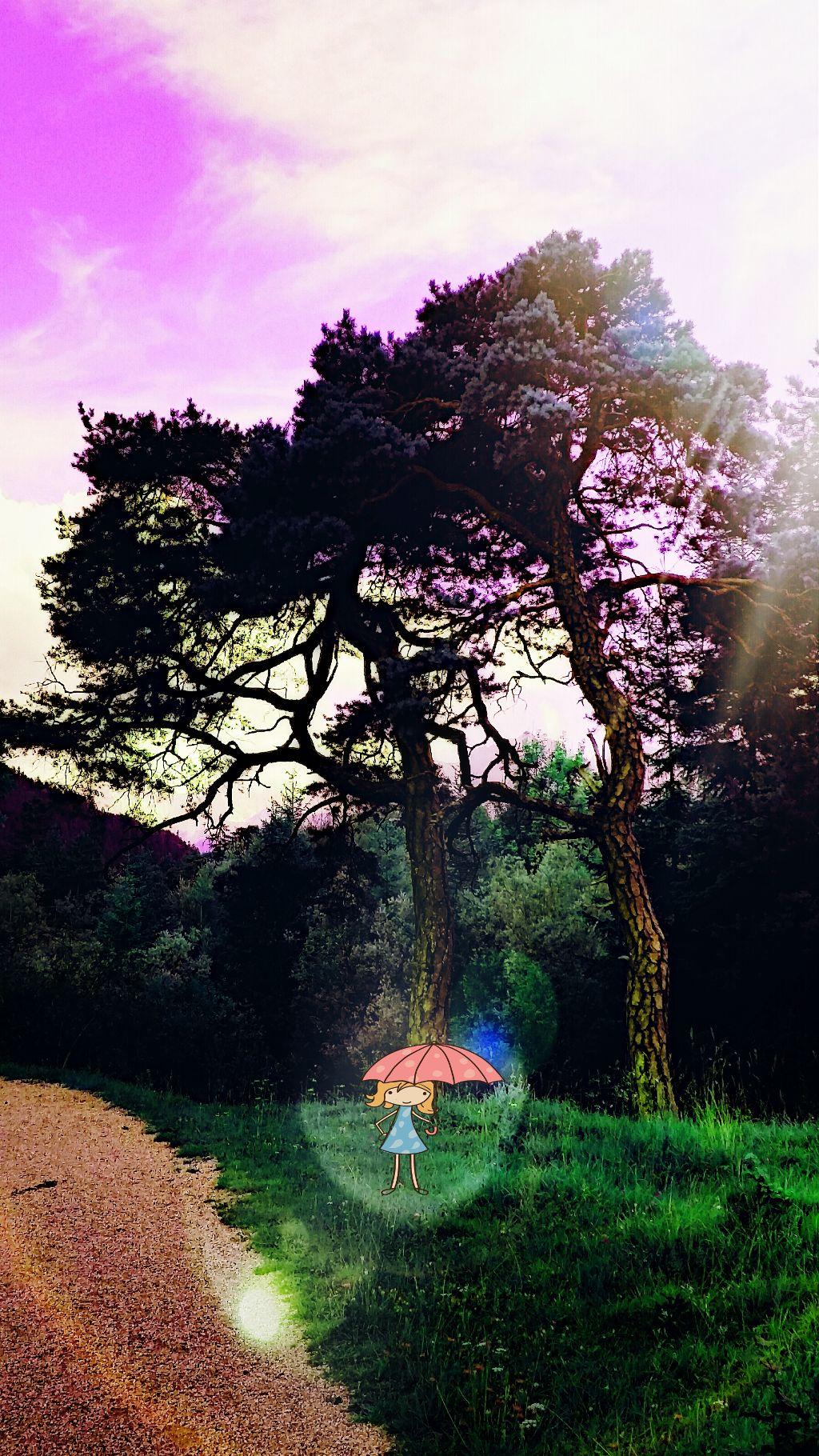das mädchen mit dem regenschirm