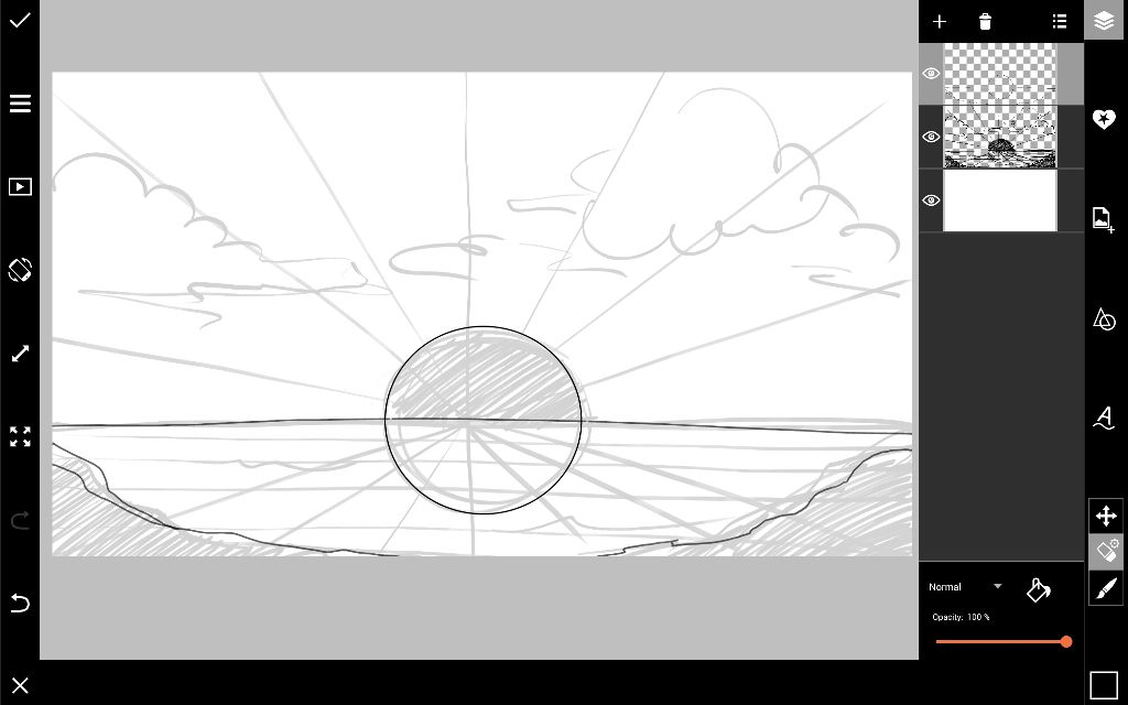how to draw a horizon step by step