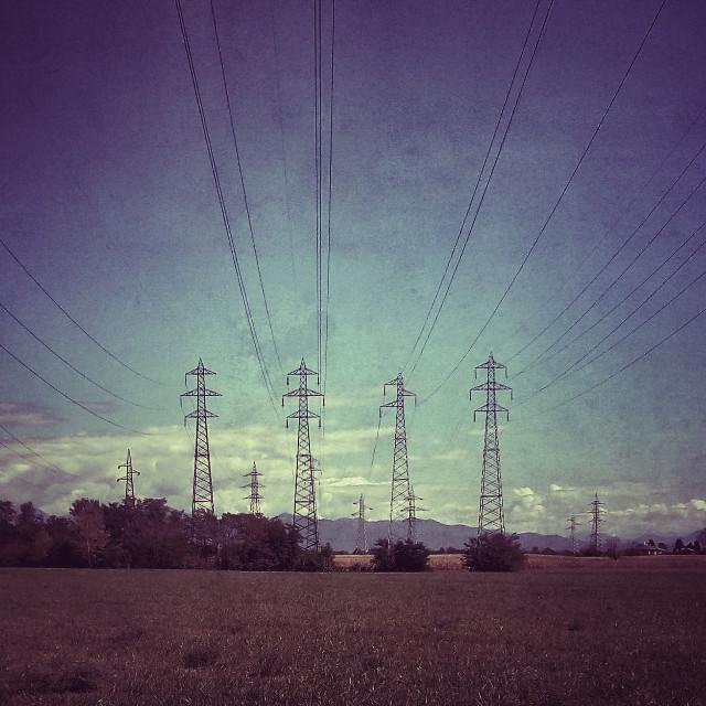 Electricity #landscape #field #countryside