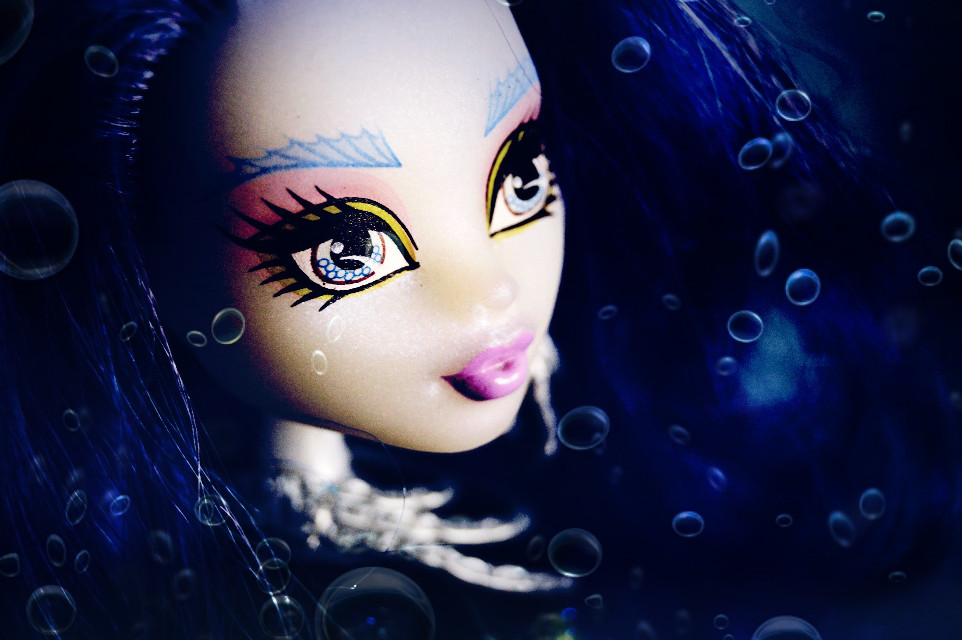 ~Sirena Von Boo~  #style #blue #photography #doll #mermaid #monsterhigh #overlay