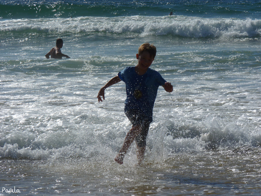 My little brother.  #beach #blue #happy #happyplace #sea #travel #tuscany #summer #like #people #colorful #emotions