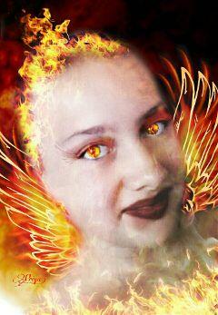 freetoedit artisticselfie edited artistic fire