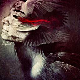 artisticselfie myedit fantasyart angel hdr curvestool paper stenciler5