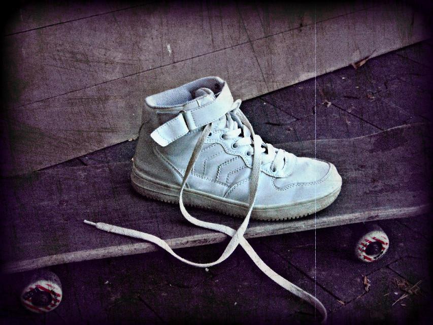 #nature #colorful #shoes #vibrant #oldphoto #hdr #skateboard  #dailyinspiration #viginette #germany  #lightanddark #lonely #freetoedit