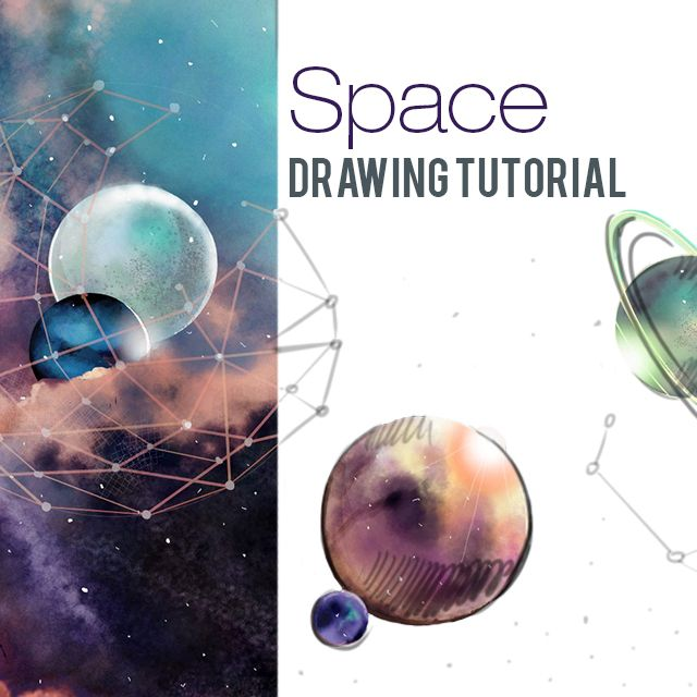 Outer space drawing tutorial