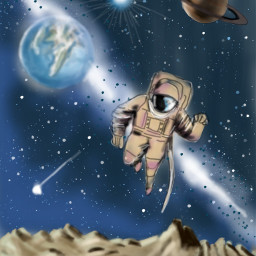 dcouterspace astronaut planets star